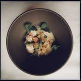 与蔬菜的虾 免版税库存照片