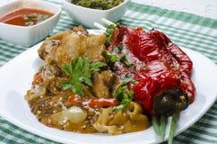 与蔬菜的鸡汤 免版税库存照片