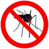 与蚊子的禁止的路标 库存例证