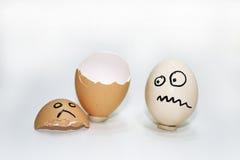 与蛋壳的抽象构成 库存图片