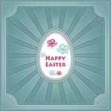 与蛋蝴蝶鳐的复活节快乐 免版税图库摄影