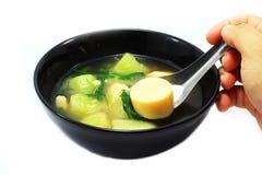 与蛋豆腐的泰国汤 库存图片