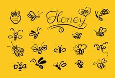 与蜂的传染媒介背景您的设计的 免版税图库摄影