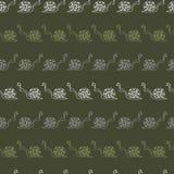 与蜗牛的无缝的传染媒介样式 库存照片