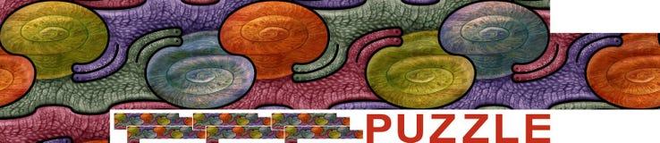 与蜗牛的无缝的样式-难题 图库摄影