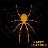 与蜘蛛的愉快的Hallowen 免版税库存照片
