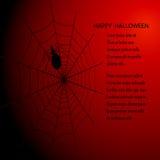 与蜘蛛网和蜘蛛EPS10的万圣夜黑暗的传染媒介背景 库存图片