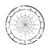 与蜘蛛网的邮票 库存照片