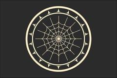 与蜘蛛网的邮票 免版税库存图片