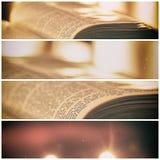 与蜡烛的圣经 库存图片