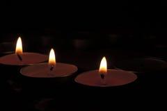 与蜡烛的背景 免版税图库摄影