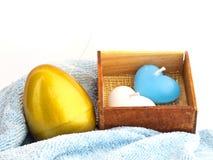 金黄复活节彩蛋 免版税库存照片