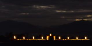 与蜡烛闪烁光的Menorah