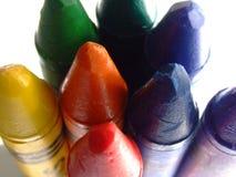 与蜡笔的油漆 免版税图库摄影