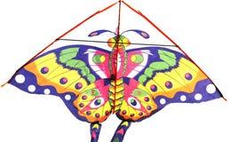 与蝴蝶形象的风筝 库存照片