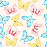 与蝴蝶的无缝的模式 免版税库存照片