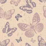 与蝴蝶的无缝的模式 免版税库存图片
