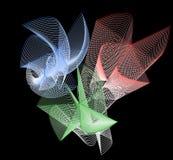 与螺旋元素的图解构成 免版税库存图片