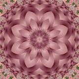 与螺旋和瓣装饰品的美妙的分数维背景 您 库存图片