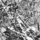 与螺旋地的抽象几何元素塑造 抽象illust 库存例证