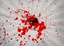 与血液的残破的玻璃 免版税图库摄影