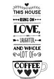 与行情的字法关于咖啡 免版税库存照片