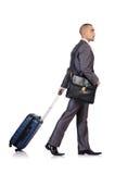 与行李的商人 库存图片
