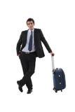 与行李的商人 免版税库存图片