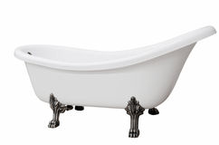 与行程的经典空白浴缸 免版税库存照片
