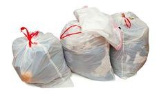 与衣物的捐赠袋子 库存照片