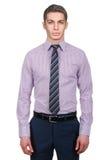 与衬衣的男性模型 免版税库存照片