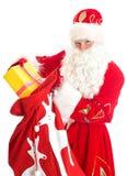 与袋子的圣诞老人存在 图库摄影