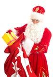 与袋子的圣诞老人存在 库存照片