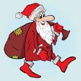 与袋子的圣诞老人 图库摄影