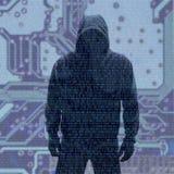 与被乱砍的密码的二进制编码 免版税库存照片