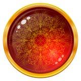 与被仿造的红色宝石的金钮扣 库存例证