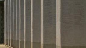 与被刻记的名字的纪念结构 股票录像