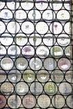 与被加强的玻璃的窗口 库存照片
