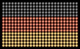 与被带领的光的德国旗子 免版税库存照片
