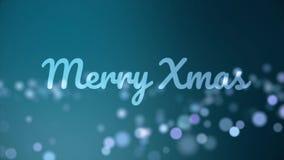 与被弄脏的泡影的美好的圣诞快乐动画 背景看板卡祝贺邀请 皇族释放例证