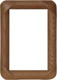 与被环绕的边缘的木制框架 免版税库存图片