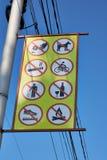 与被禁止的标志的牌 图库摄影