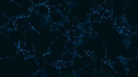 与被连接的微粒的抽象几何结节背景 股票录像