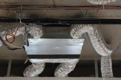 与被连接的空气管道的Fancoil 免版税图库摄影