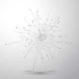 与被连接的线和小点的几何抽象形式 也corel凹道例证向量 库存图片