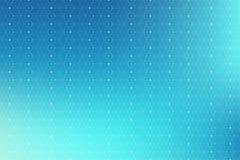 与被连接的线和小点的蓝色几何样式 图表背景连通性 现代时髦的多角形背景 库存图片