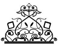 ? 与被隔绝的星的传染媒介典雅的装饰的冠商标象 向量例证