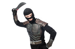 与被隔绝的刀子的Ninja 免版税图库摄影