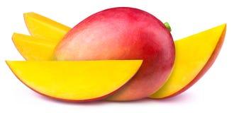 与被隔绝的切片的芒果 免版税库存照片