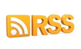 与被隔绝的文本的RSS标志 向量例证